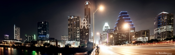 Austin, Texas as seen from the Congress Street Bridge
